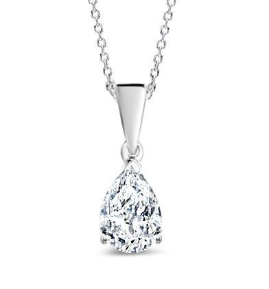 Solitärhänge med droppslipad diamant