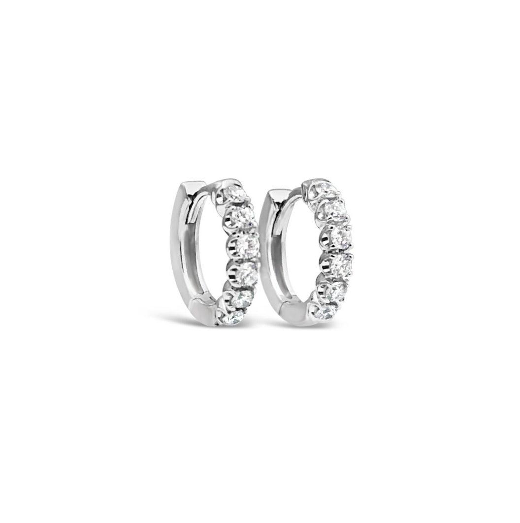 mindre Diamantörhängen vitguld Olivia
