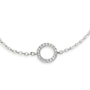 Diamantarmband i vitguld